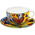 "Goebel Tee-/ Cappuccinotasse Romero Britto - ""A New Day"" 8,5 cm"
