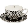 "Goebel Teetasse Maja von Hohenzollern - Design ""Diamonds"" 7,0 cm"