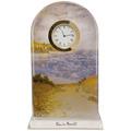 "Goebel Tischuhr Claude Monet - ""Strandweg Weizenfelder"" 11,0 x 18,5 cm"
