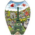 "Goebel Vase Charles Fazzino - ""Visit Paris / Lights of London"" 30,0 cm"