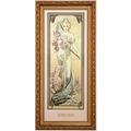 "Goebel Wandbild Alphonse Mucha - ""Frühling 1900"" 27,0 x 57,0 cm"