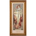 "Goebel Wandbild Alphonse Mucha - ""Herbst 1900"" 27,0 x 57,0 cm"