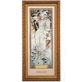 "Goebel Wandbild Alphonse Mucha - ""Winter 1900"" 27,0 x 57,0 cm"