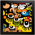 "Goebel Wandbild Billy The Artist - ""Looking into the future II"" 33,5 x 33,5 cm"