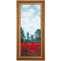 """Goebel Wandbild Claude Monet - """"Mohnfeld I"""" 27,0 x 57,0 cm"""