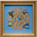 "Goebel Wandbild Joanna Charlotte - ""Spirograph"" 35,0 x 35,0 cm"