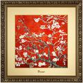 "Goebel Wandbild Vincent van Gogh - ""Mandelbaum rot"" 68 x 68 cm"