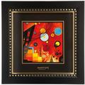 "Goebel Wandbild Wassily Kandinsky - ""Schweres Rot"" 25,5 x 25,5 cm"