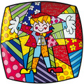 "Goebel Wandteller Romero Britto - ""Hug Too"" 30,5 x 30,5 cm"