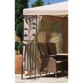 Grasekamp 4 Seitenteile zu Blätter Pavillon 3x4m  mit Moskitonetz Sand Sand