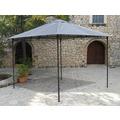 Grasekamp Antikpavillon Rimini Flex 293 x 293 cm  Grau Gartenpavillon Partyzelt Grau