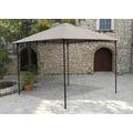 Grasekamp Antikpavillon Rimini Flex 293 x 293 cm  Taupe Gartenpavillon Partyzelt Taupe