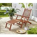 Grasekamp Deckchair Santos Natur Gartenliege  Liegestuhl Sonnenliege Relaxliege Natur