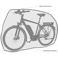 Grasekamp Fahrradabdeckung Fahrrad Abdeckplane  Universal Fahrradgarage Fahrradhülle Weiß