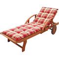 Grasekamp Gartenliege Rio Grande mit Auflage  Sommerfrisch Holz Liege Sonnenliege  Relaxliege Bunt
