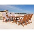 Grasekamp Gartenmöbel 13tlg mit Klapptisch  200x100cm Terrassenmöbel Santos Sand Beige