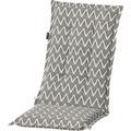 Grasekamp Auflage Grau zu Hochlehner im coolen  Zick Zack Muster Klappsessel Grau