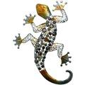 Grasekamp Wanddeko Gecko XL Wandobjekt Wandbild Stahl/Silber/Gold