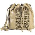 Greenburry Loops Alicia Beuteltasche Leder 32 cm beige