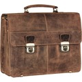 Greenburry Vintage XL Aktentasche Leder 40 cm brown