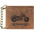 Greenburry Vintage Bike Geldbörse Leder 12 cm braun