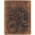 Greenburry Vintage Dragon Geldbörse Leder 10 cm braun