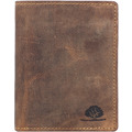 Greenburry Vintage Geldbörse RFID Leder 10 cm braun