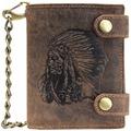Greenburry Vintage Indian Geldbörse Leder 10 cm braun