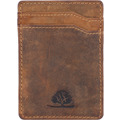 Greenburry Vintage Kreditkartenetui Leder 7 cm braun