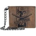Greenburry Vintage Rebel-Skull Kettenbörse Leder 12,5 cm nut brown