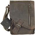 Greenburry Vintage Revival Umhängetasche Leder 18 cm charcoal
