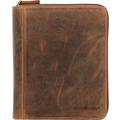 Greenburry Vintage Scheibmappe Leder 24 cm braun
