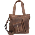 Greenburry Vintage Schultertasche Leder 39 cm brown