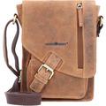 Greenburry Vintage Umhängetasche Leder 18 cm brown