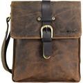 Greenburry Vintage Umhängetasche Leder 23 cm brown