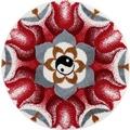 GRUND Badteppich Mandala HARMONIE DER GEGENSÄTZE 60 cm rund