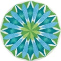 GRUND Badteppich Mandala SONNENAUFGANG 60 cm rund
