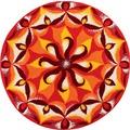 GRUND Badteppich Mandala TEMPERAMENT 60 cm rund