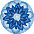 GRUND HEAVEN Badteppich Blau ø 80 cm