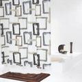 GRUND Duschvorhang MODELLO weiss-braun-grau 180x200 cm
