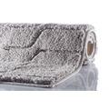 GRUND VOGUE Badteppich Grau 60 x 60 cm WC-Vorleger ohne Ausschnitt