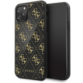 Guess 4G Dobble Layer Glitter Case - Apple iPhone 11 Pro - Schwarz - Cover - Schutzhülle