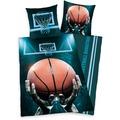 Herding Basketball Renforcé Bettwäsche, 135x200 cm grau