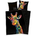 "Herding Bureau-Artistique ""Giraffe"" Satin Bettwäsche, 155x200 cm"