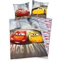 Herding Disney's Cars 3 Flanell- Bettwäsche , 135x200 cm