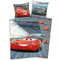 Herding Disney's Cars 3 Renforcé Bettwäsche 135x200 cm grau