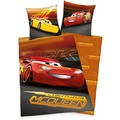 Herding Disney's Cars 3 Renforcé Bettwäsche 135x200 cm orange