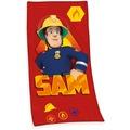 Herding Feuerwehrmann Sam Strandtuch/Badetuch aus Velours 75x150