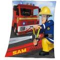 Herding Feuerwehrman Sam Fleecedecke, 130x160 cm bunt