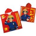 Herding Feuerwehrmann Sam Badeponcho Poncho 60x120 (60x60 + Kapuze)